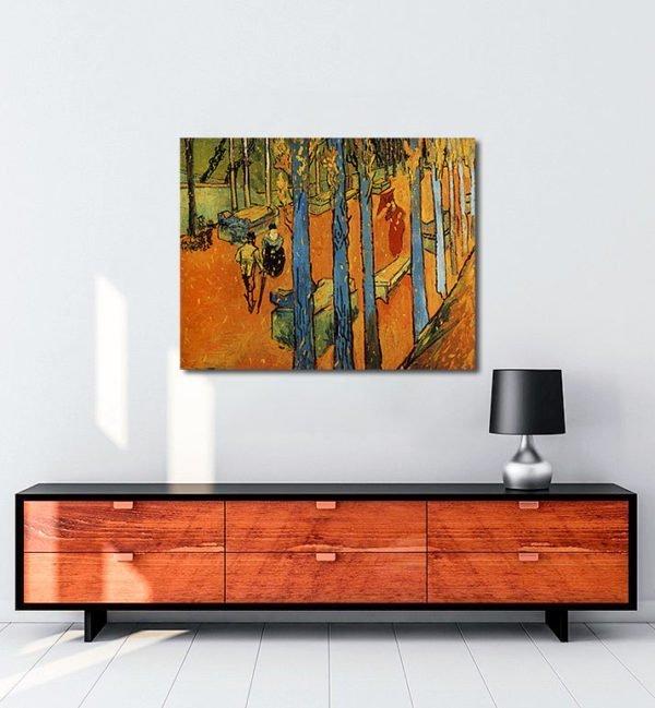 Vincent Van Gogh Les Alycamps, feuilles d'automne Tablo