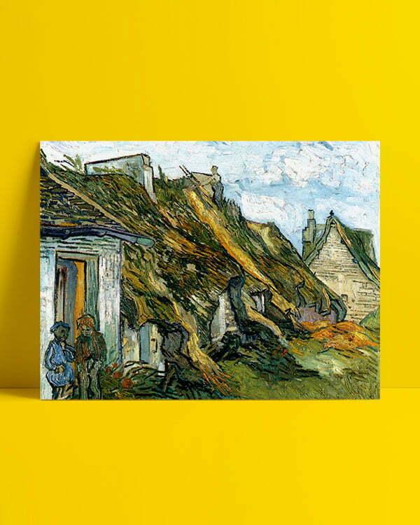 Vincent Van Gogh Les Chaumes de grès à Chaponval Afis