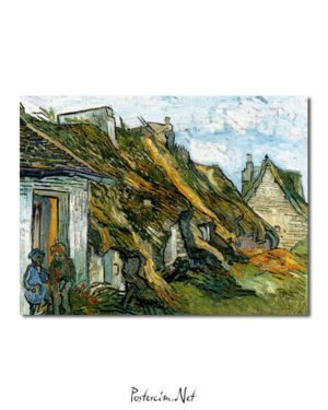 Vincent Van Gogh Les Chaumes de grès à Chaponval Poster