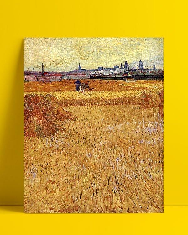 Vincent Van Gogh Les Moissonneurs Afis