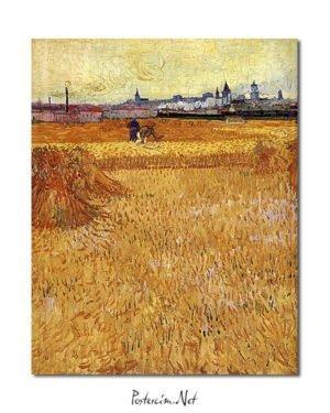 Vincent Van Gogh Les Moissonneurs Poster