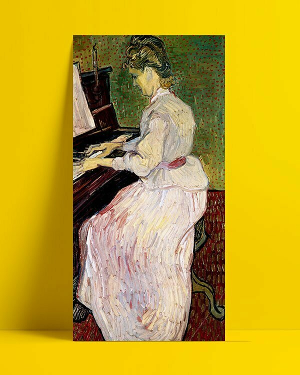Vincent Van Gogh Marguerite Gachet with the piano Afis