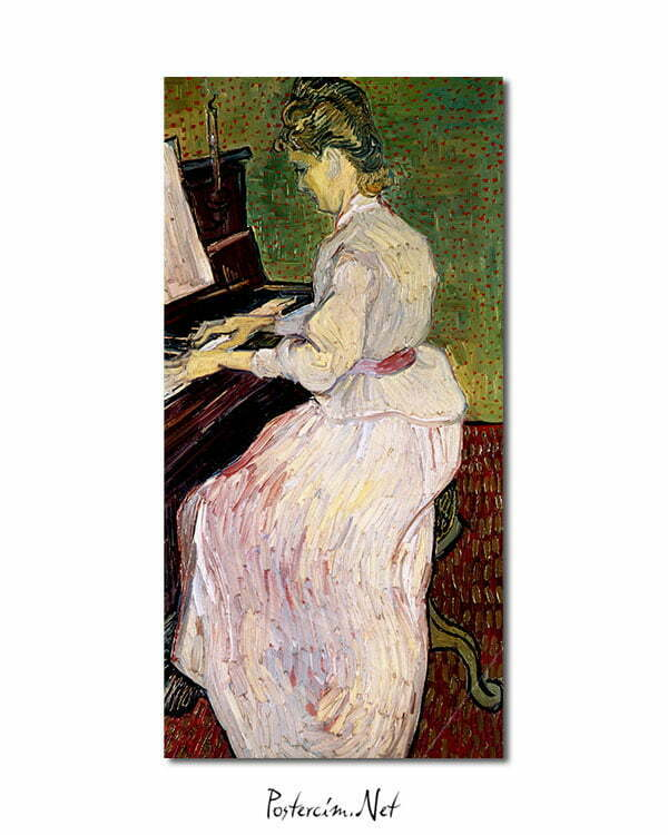 Vincent Van Gogh Marguerite Gachet with the piano Poster