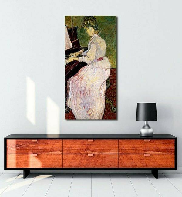 Vincent Van Gogh Marguerite Gachet with the piano Tablo
