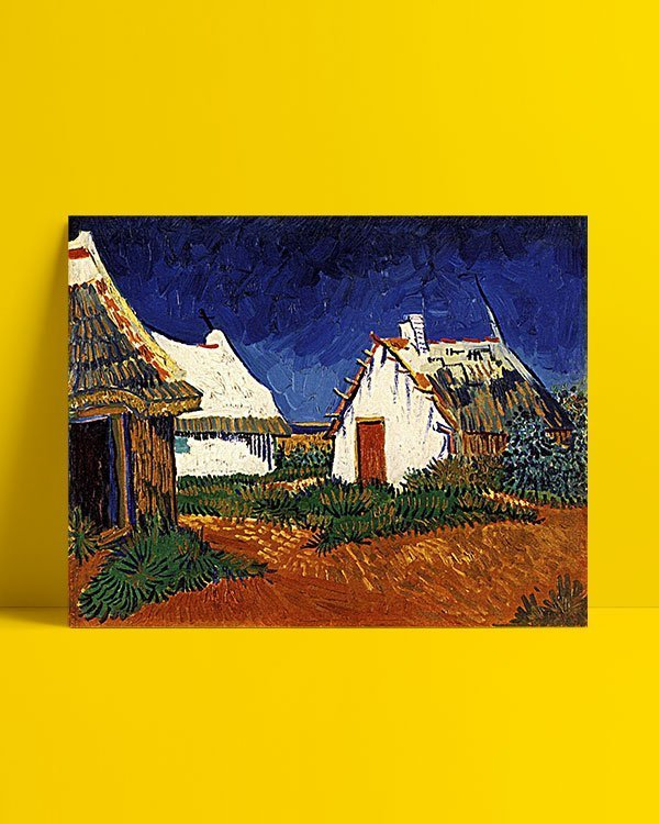 Vincent Van Gogh Mas blancs aux Saintes-Maries-de-la-Mer Afis