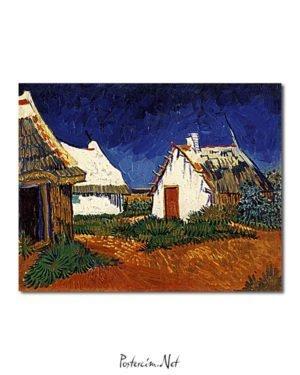 Vincent Van Gogh Mas blancs aux Saintes-Maries-de-la-Mer Poster