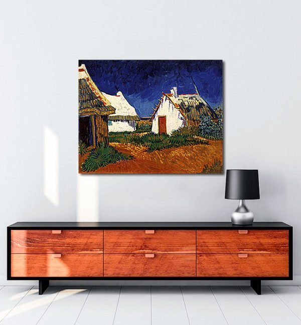 Vincent Van Gogh Mas blancs aux Saintes-Maries-de-la-Mer Tablo