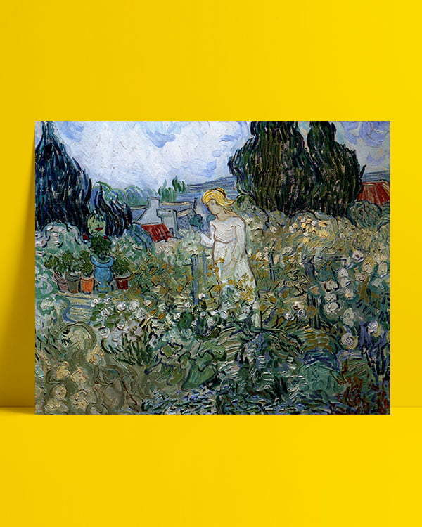 Vincent Van Gogh Miss Gachet in her garden Afis