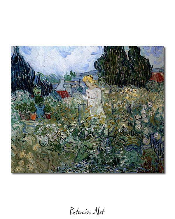 Vincent Van Gogh Miss Gachet in her garden Poster