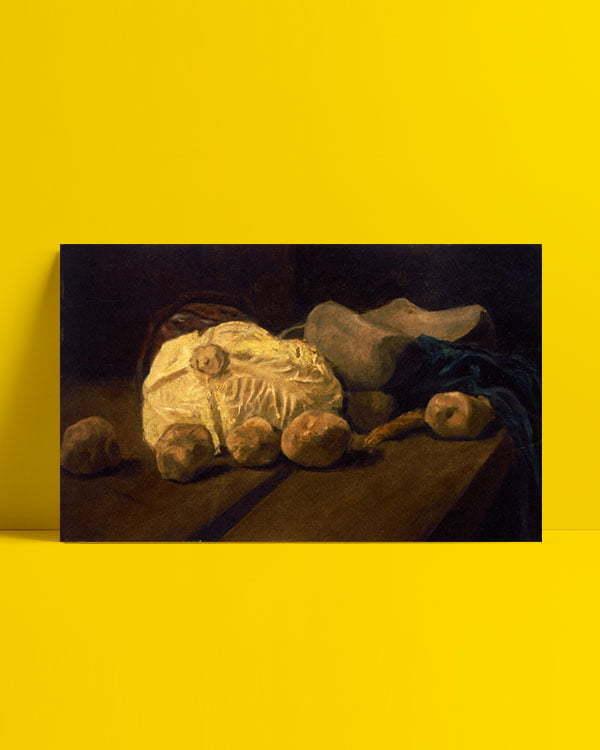 Vincent Van Gogh Nature morte avec choux et sabots Afis