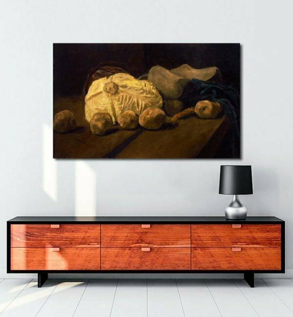 Vincent Van Gogh Nature morte avec choux et sabots Tablo