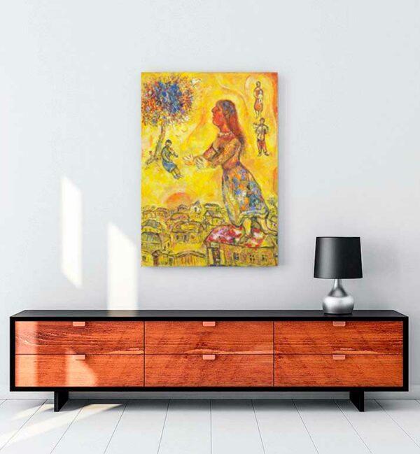 Arbre et Maisons kanvas tablo satın al