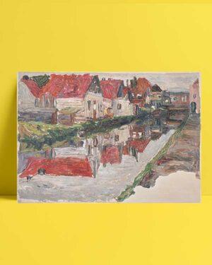 Canal in Holland afiş satın al