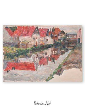 Canal in Holland poster satın al