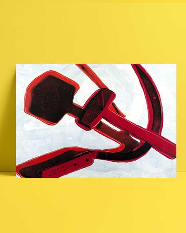 Hammer and sickle afiş