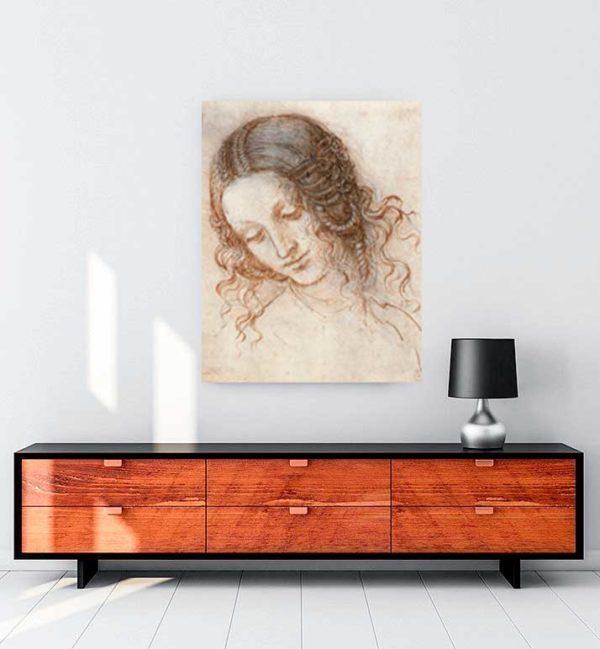 Head of Leda kanvas tablo