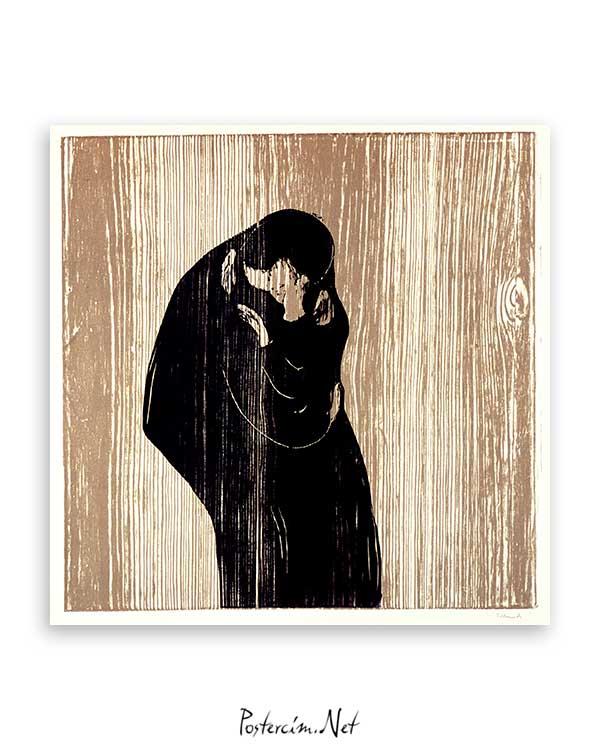 Kiss IV Edvard Munch 1902 poster satın al