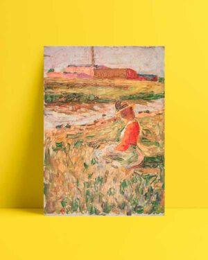 Lady Sitting on the Grass afiş satın al