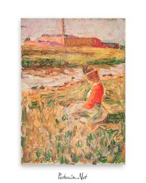 Lady Sitting on the Grass poster satın al
