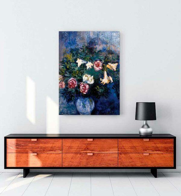 Leaning Over Flowes kanvas tablo satın al