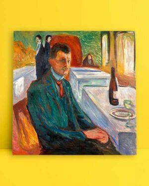 Self-Portrait with a Bottle of Wine afiş satın al