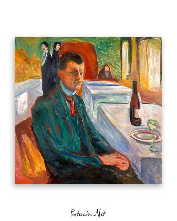 Self-Portrait with a Bottle of Wine poster satın al