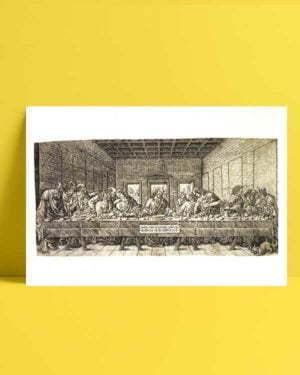 The Last Supper, with a Spaniel afiş satın al