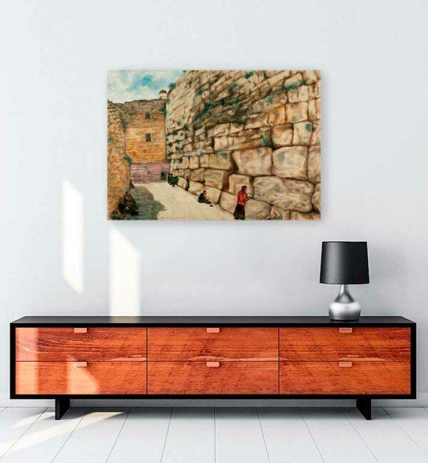 The Wailing Wall kanvas tablo satın al