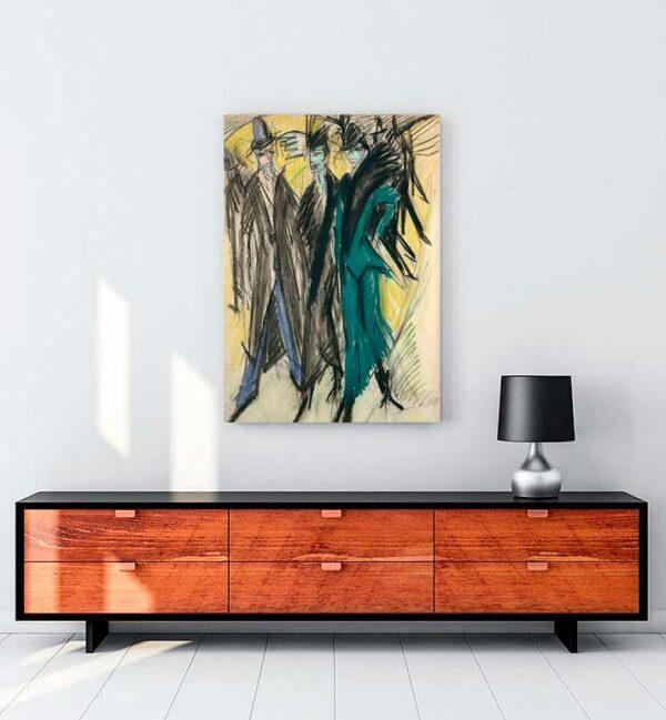 Berlin Street Scene kanvas tablo satın al