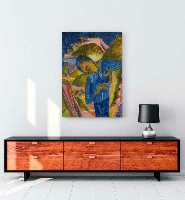 Boy With Sweets kanvas tablo satın al
