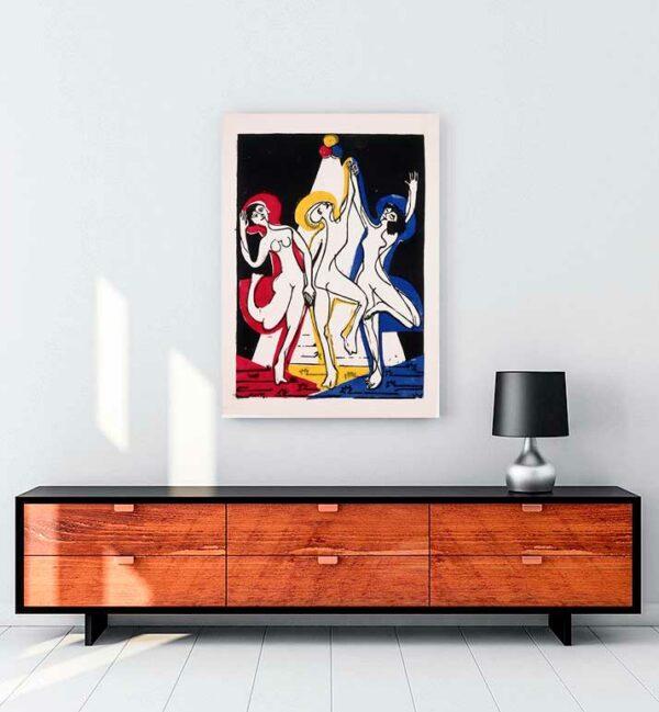 Color Dance kanvas tablo satın al