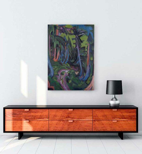 Mountain Forest Path kanvas tablo satın al