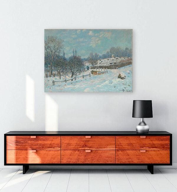Road to Louveciennes kanvas tablo