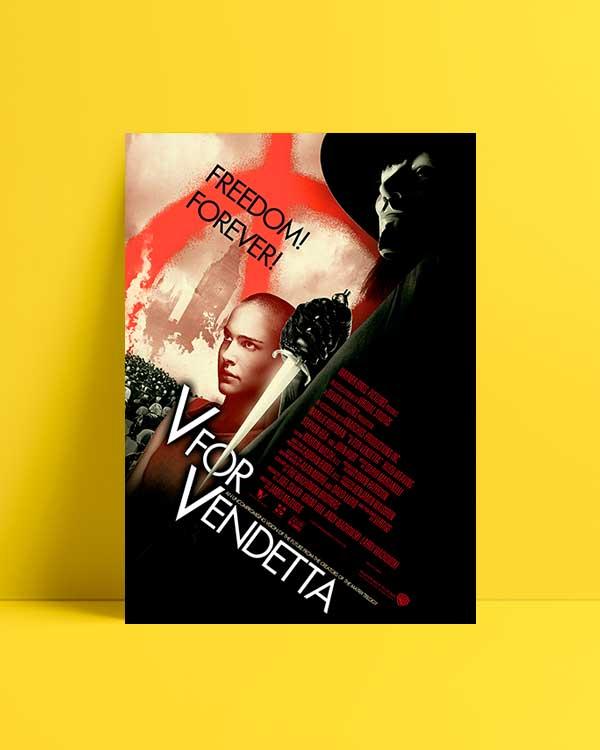 V For Vandetta Freedom film afişi satın al