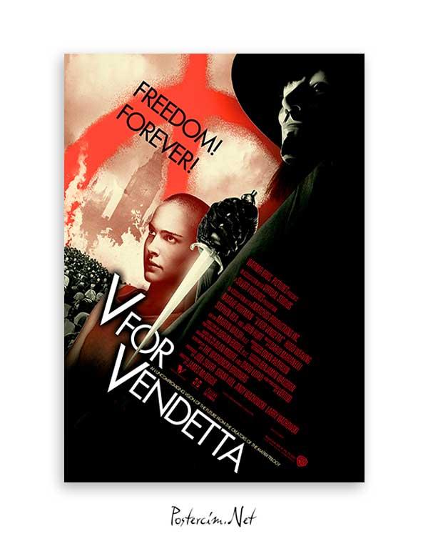 V For Vandetta Freedom poster satı al