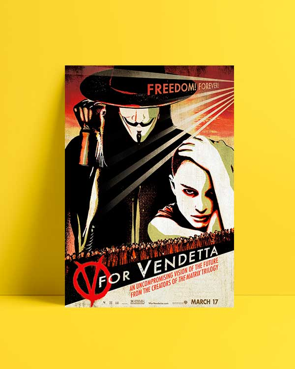 V For Vandetta film afişi satın al