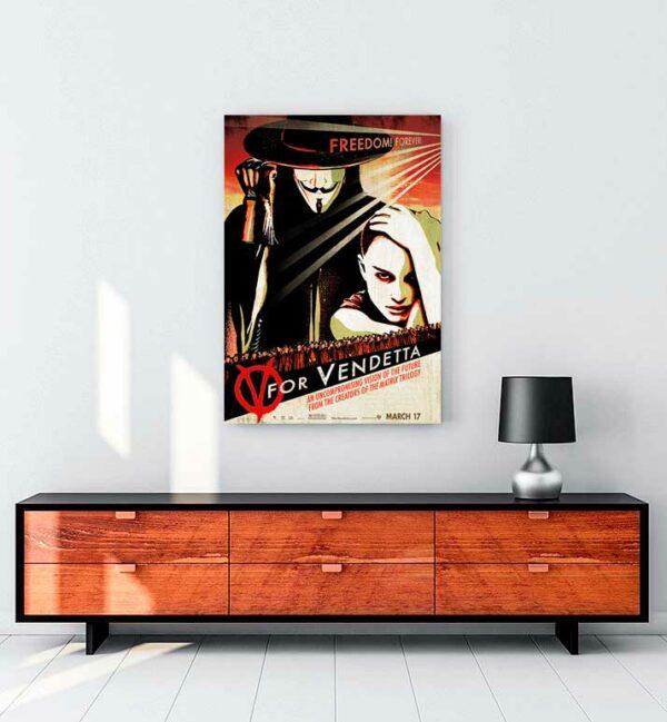 V For Vandetta kanvas tablo satın al