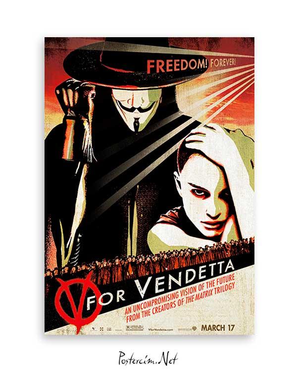 V For Vandetta poster satın al