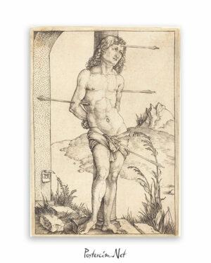 Saint Sebastian Bound to the Column afişi