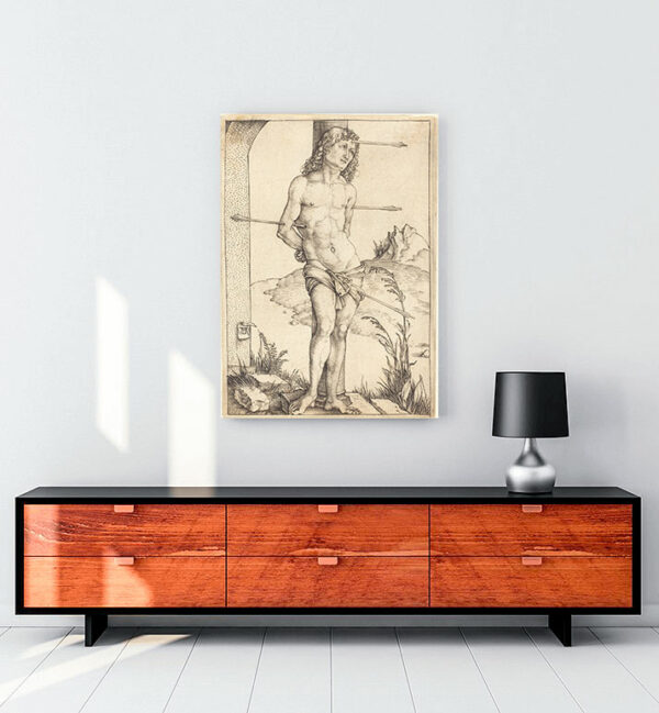 Saint Sebastian Bound to the Column kanvas tablo