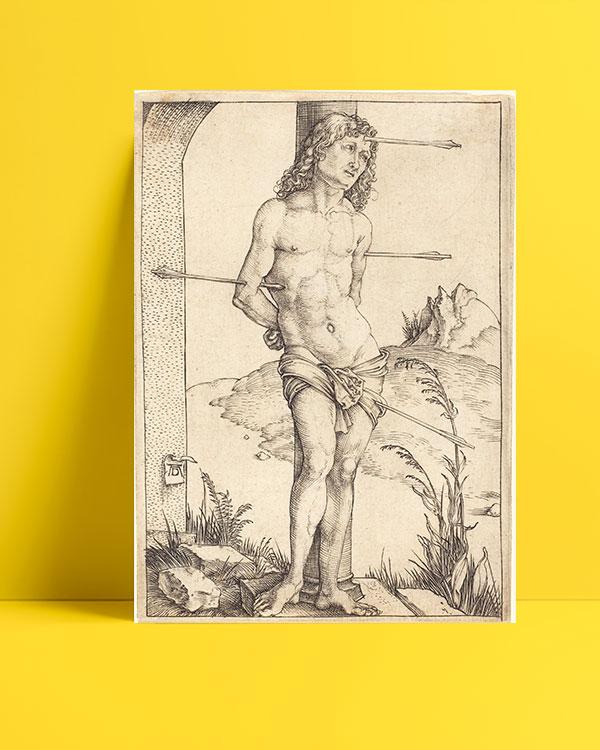 Saint Sebastian Bound to the Column posteri