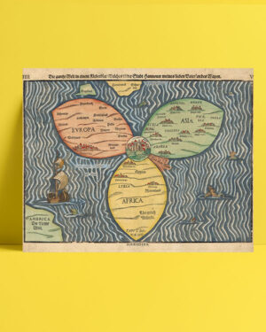 Bunting clover leaf map 1581 posteri