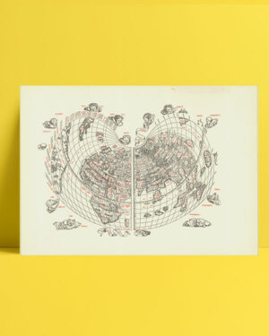 Cordiform world map / Bernardo Silvano 1511 posteri