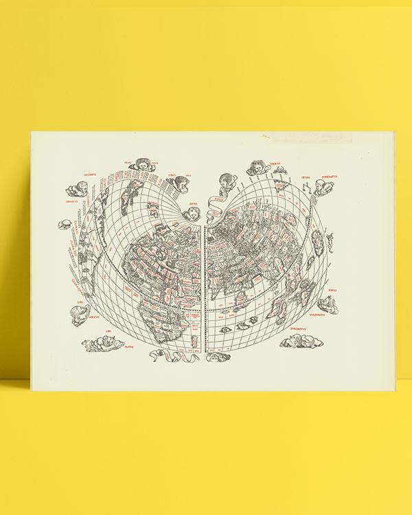 Cordiform world map / Bernardo Silvano 1511 posteri
