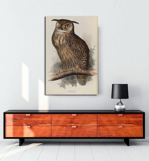 Eagle Owl kanvas tablo