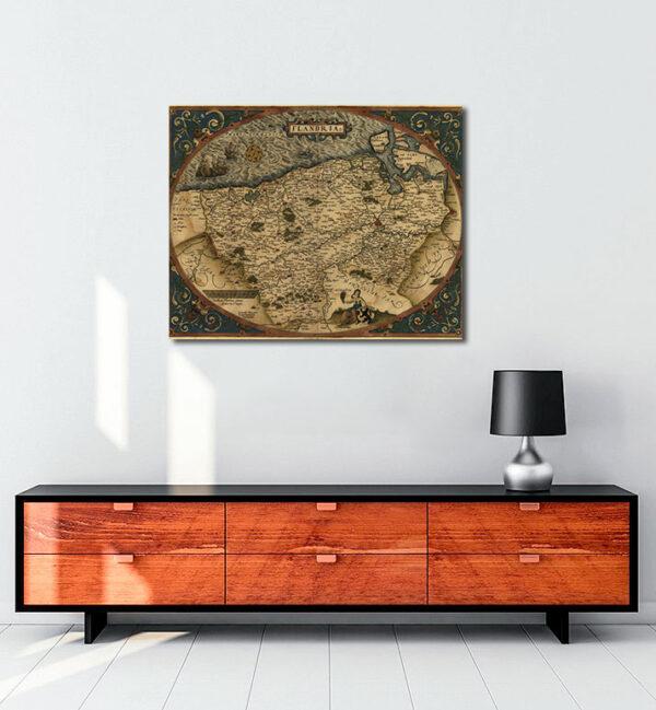 Flandria - 1645 kanvas tablo
