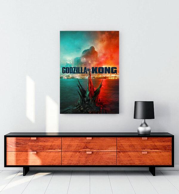 Godzilla vs. Kong kanvas tablo