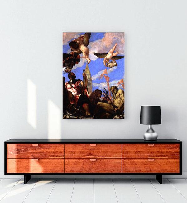 Mars and Neptune kanvas tablo