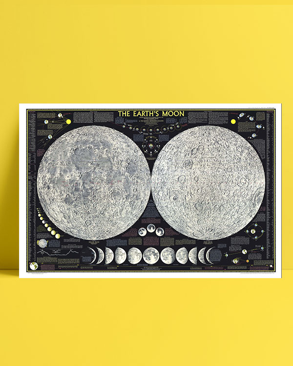 Moon Map posteri