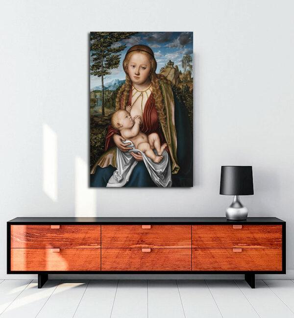 The-Virgin-Suckling-the-Child-kanvas-tablo